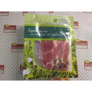 Kamm ohne Knochen  vom Bio Apfelschwein 2 Scheiben