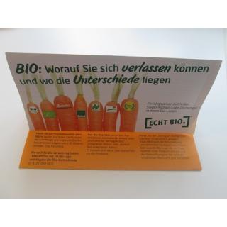 """Flyer """" Wegweiser durch die Bio-Logos"""""""