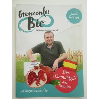 """Flyer """"Bio Granatäpfel aus Spanien"""""""