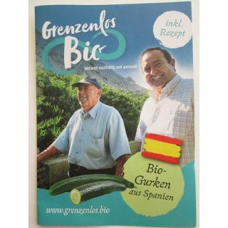 """Flyer """"Bio Gurken aus Spanien"""""""