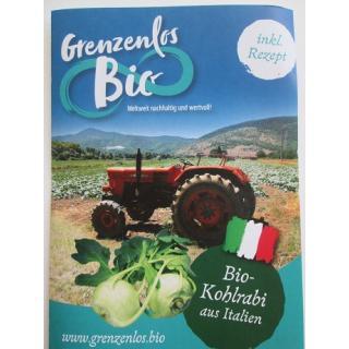 "Flyer ""Bio Kohlrabi aus Italien"""