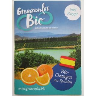 """Flyer """"Bio Orangen aus Spanien"""""""