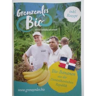 """Flyer """"Bio Bananen aus der Dominikanischen Republik"""""""
