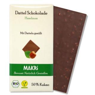 MAKRI Dattel Schokolade HASELNUSS 56%