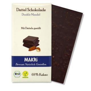 MAKRI Dattel Schokolade DUNKLE MANDEL 68%