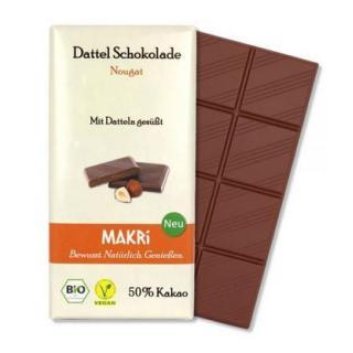 MAKRI Dattel Schokolade NOUGAT 50%