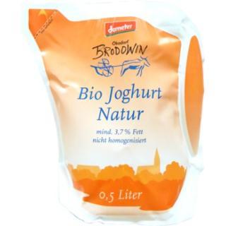 Brod. Joghurt Natur 3,7% Fett 0,5 Ltr