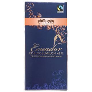 Edelvollmilch Schokolade Ecuador 42%  100g
