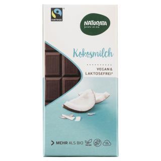 Bio Schokolade mit Kokosmilch  100g