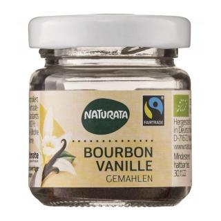 Bourbon-Vanille, gemahlen, 10g im Glas