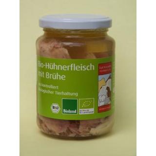 Hühnerfleisch m. Brühe 320g, 90g Fleisch