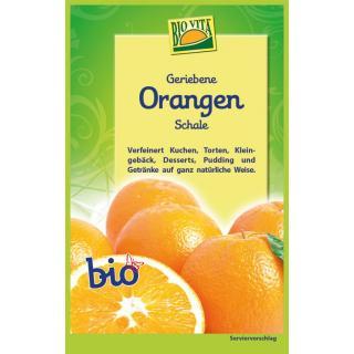 Geriebene Orangenschale bio