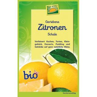 Geriebene Zitronenschale bio