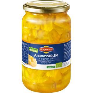 Ananas Stücke, in eigenem Saft 720ml ATG 350g