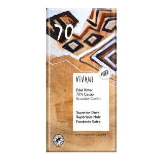 Edelbitter Schokolade 70% Ecuador  100g
