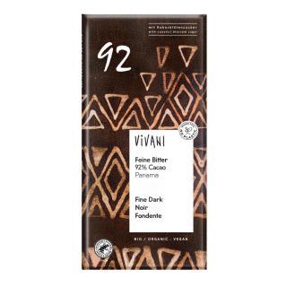 Feine Bitter Schokolade  92 % Cacao