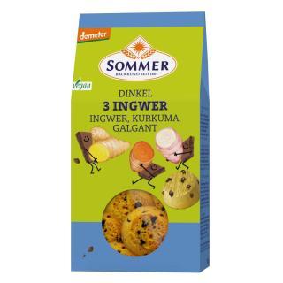 Dinkel 3 Ingwer  Cookies 150g