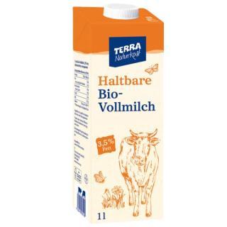 TERRA H-Milch Vollmilch, Karton 3,8%  1Ltr