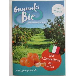 "Flyer ""Bio Mandarinen aus Italien"""