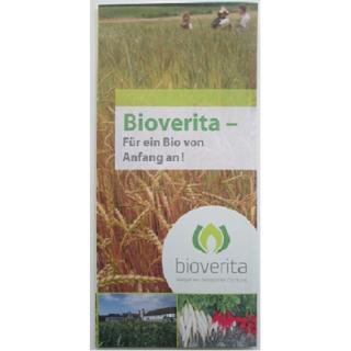 """Flyer """"Bioverita- Für ein Bio von Anfang an!"""""""